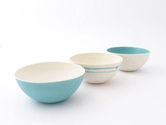 Small Aqua Seasalt Bowl