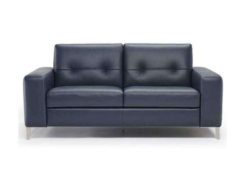Sofia contemporary leather sofa bed from Darlings of Chelsea