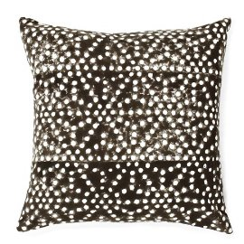 Grey and white patterned Spot the Dog Cotton Cushion from French Connection