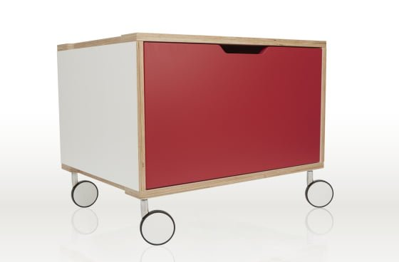 Sylvi Sideboard Single Wheel Unit Red 560