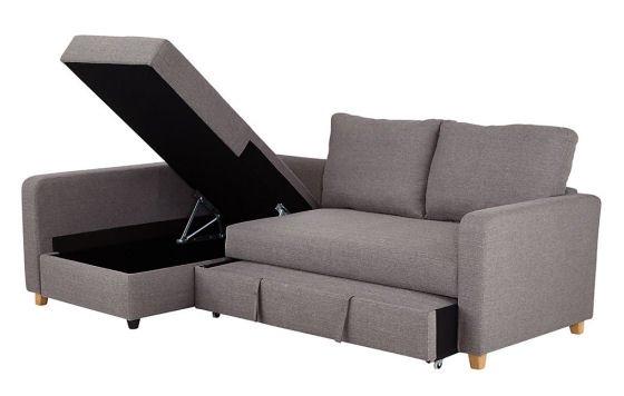 The M&S LOFT range Tromso corner storage sofa bed for small spaces