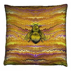 Ex Libris Cushion from Timorous Beasties contemporary home textiles designers