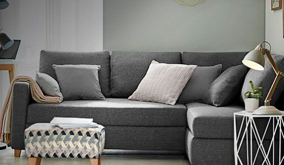 LOFT range Tromso corner storage sofa bed for small spaces