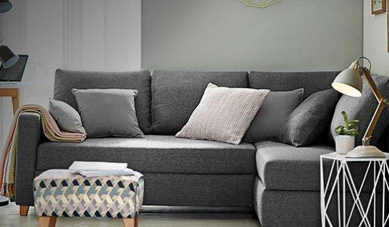 LOFT range Tromso corner storage sofa bed for small spaces