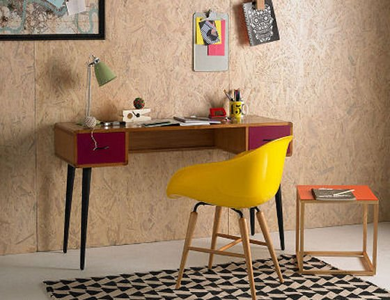 urban outfitter furniture. red desk and yellow chair from urban outtitters furniture range outfitter colourful beautiful things
