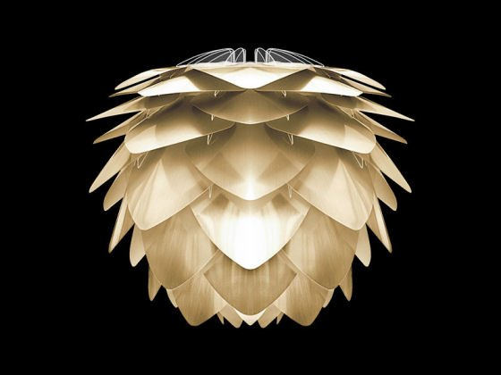 Vita Silvia lampshade in brushed brass
