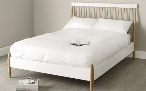 Ercol Devon Bed for the White Company with white bedlinen