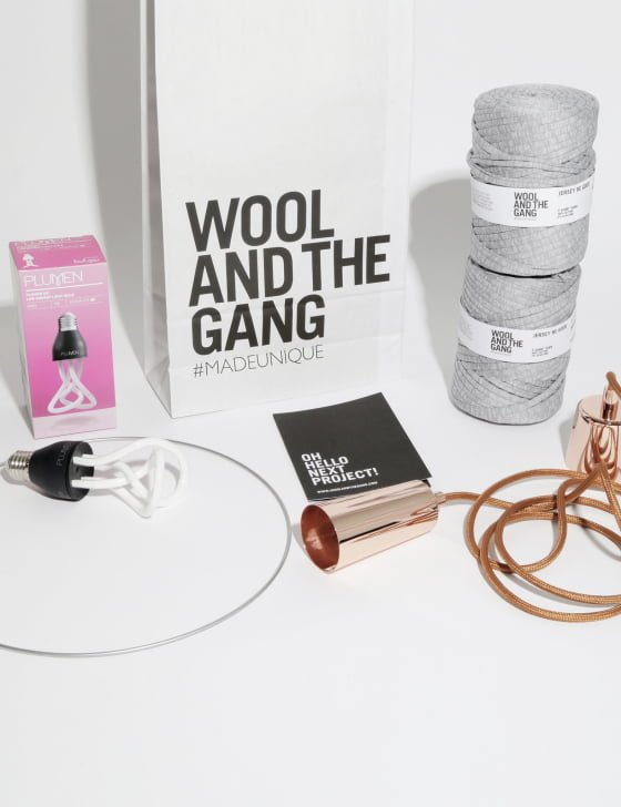Wool and The Gang DIY Lampshade and Plumen Lighting Kit