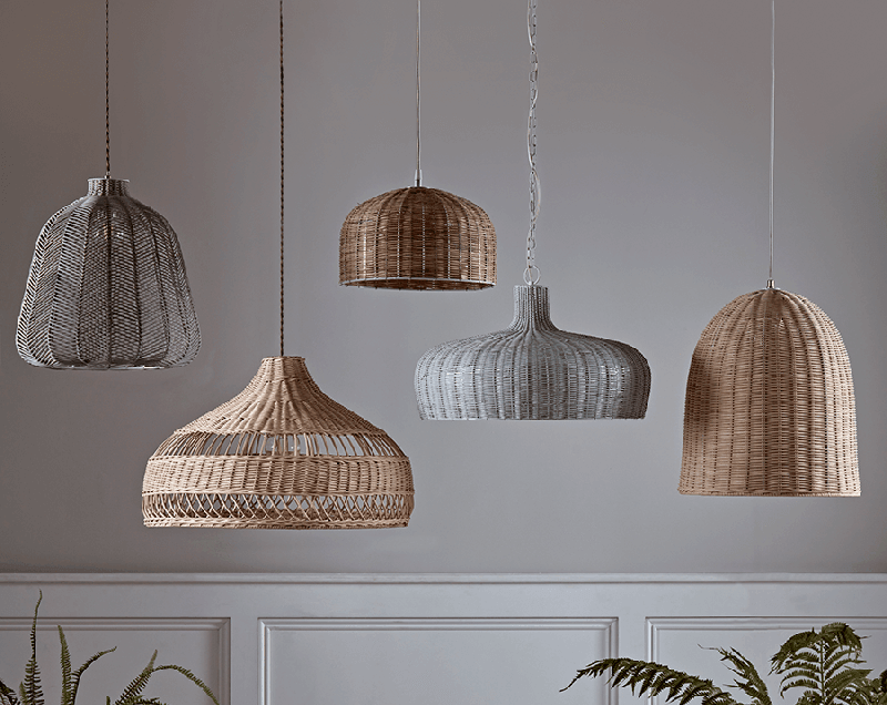 Woven Rattan Lampshades Colourful Beautiful Things