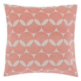 Akasia orange cotton and linen cushion