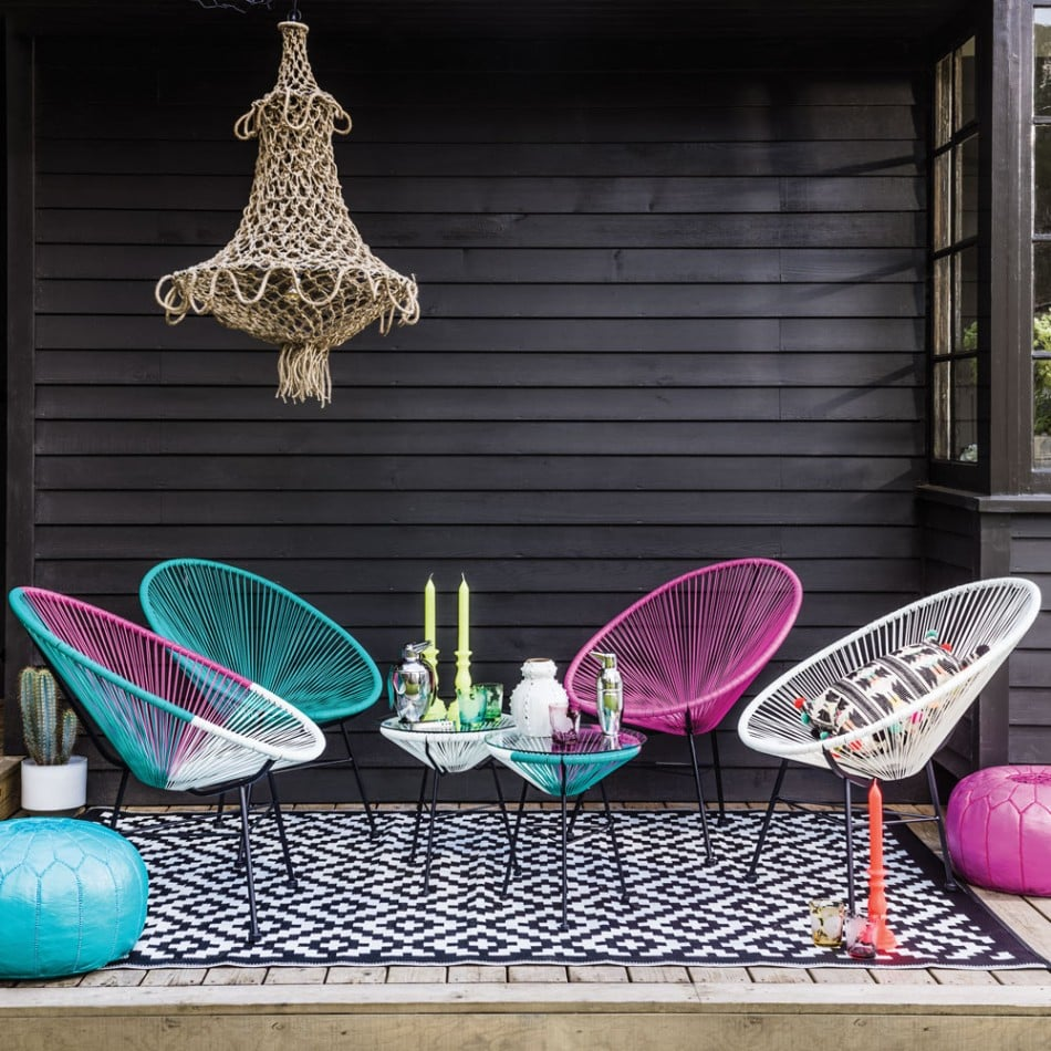 colourful garden furniture for contemporary outside spaces. Black Bedroom Furniture Sets. Home Design Ideas