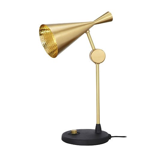 Contemporary Beat brass table lamp by Tom Dixon