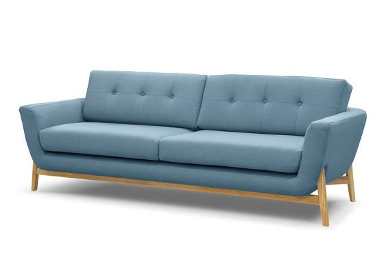 Pale blue sofa by Sofas and Stuff in Knebworth Blue fabric