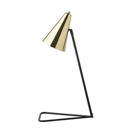 Bloomingville black and brass Stand Desk Lamp