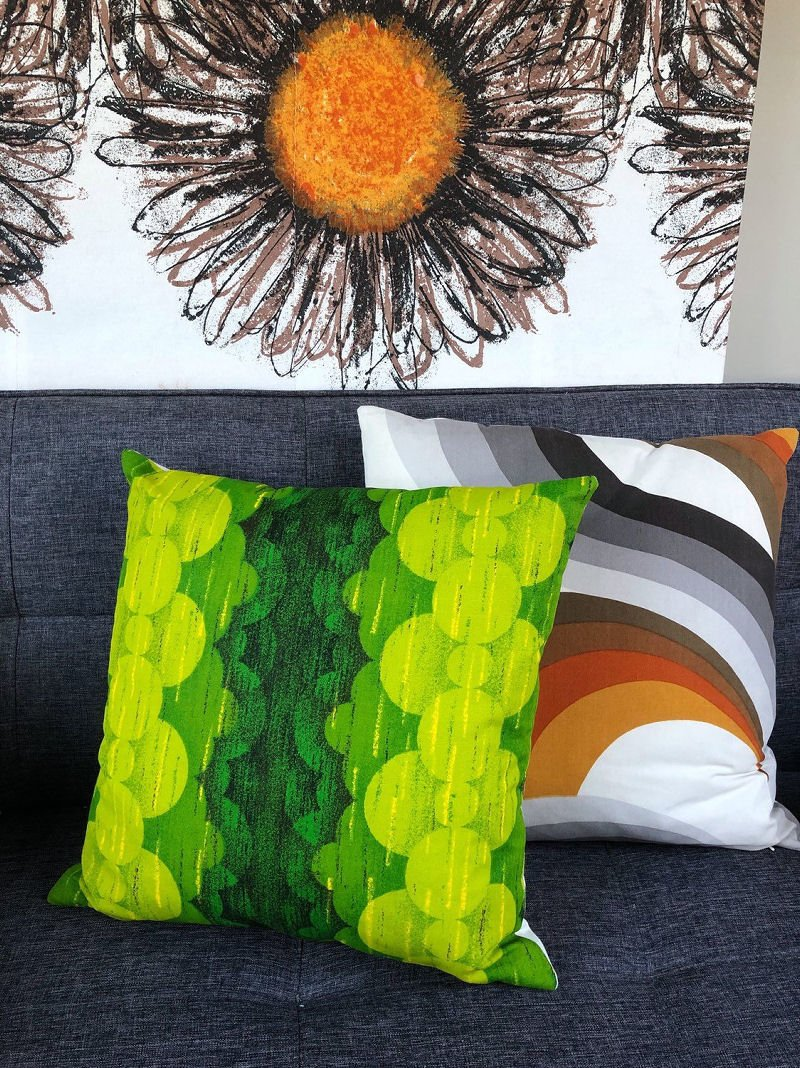 70's style vintage cushions from Etsy - Blue Lizard Textiles