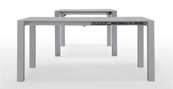 Bramante extending dining tables for small spaces in grey lacqueur