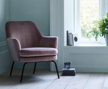 Habitat Celine velvet armchair for small spaces