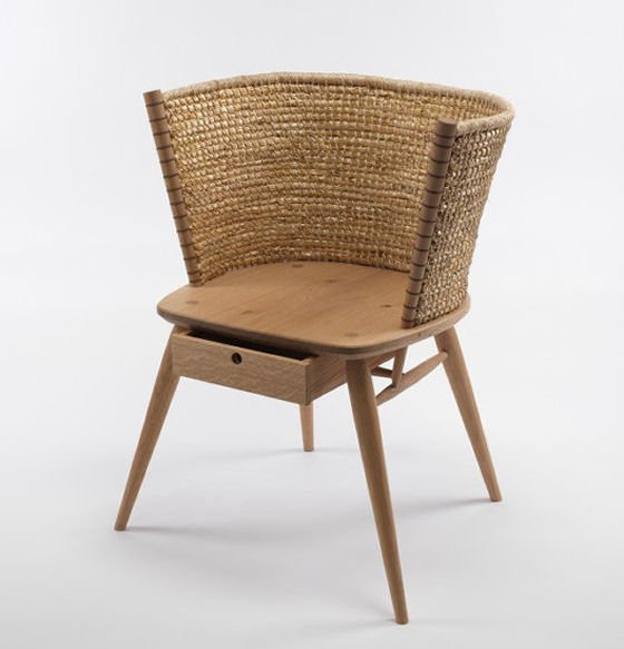 Brodgar strawbacked Orkney chair  by Gareth Neal and Kevin Gauld for The New Craftsmen