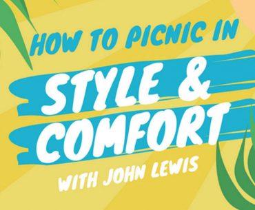 John Lewis picnicware for stylish and comfortable picnics