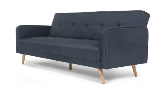 Chou Sofa Bed for small spaces in blue fabric