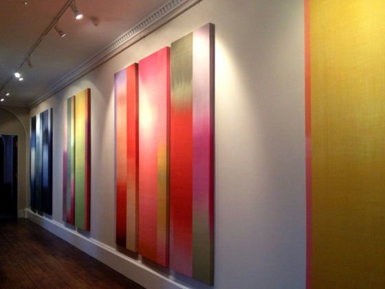 ChromatogenousTextile installation by Ptolemy Mann at gallery of Chatsworth House