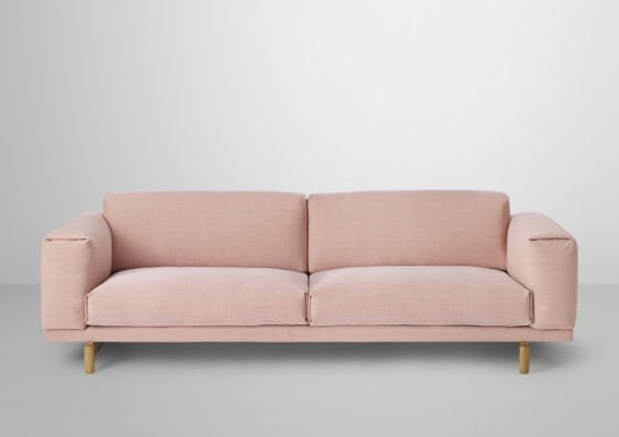 Blush pink Compose 3-seater sofa by Muuto