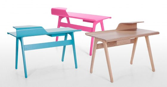 Contemporary home desks - bright blue, bright pink and ash by Made.com