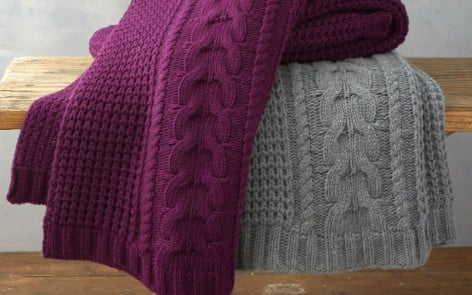 cosy knitted throws feature