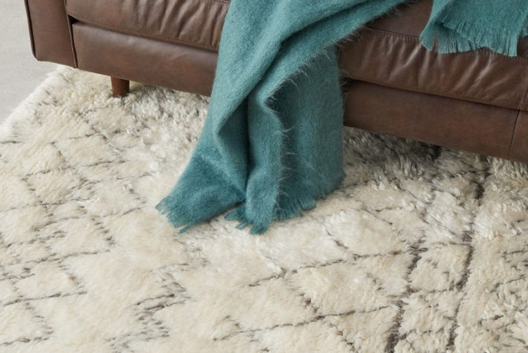 cosy wool berber rug for toasty toes
