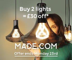 Contemporary lighting from MADE.COM