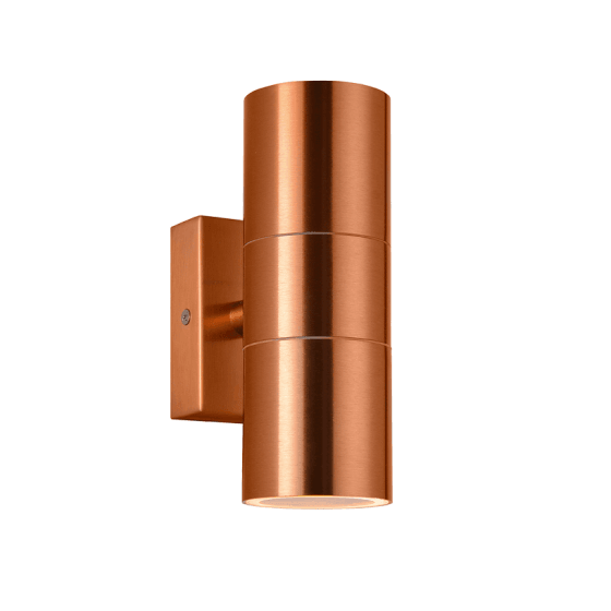 Contemporary outdoor lighting ideas: Copper Finish Double Spotlight