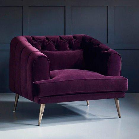 Earl Grey velvet armchair by Love Your Home