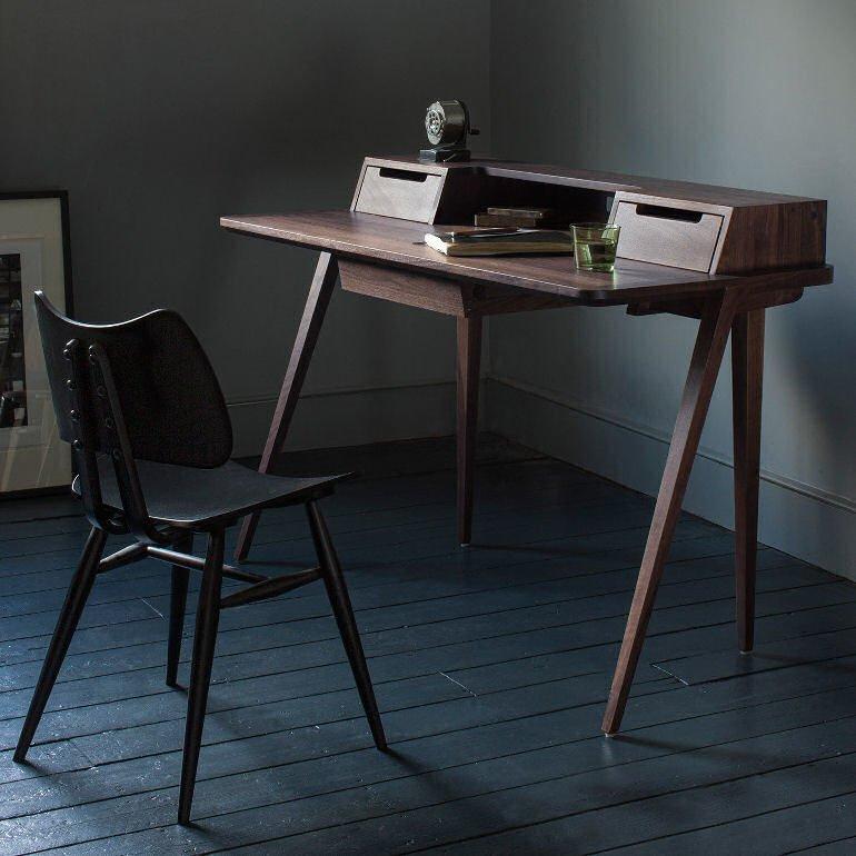 Heal's Treviso Desk in walnut by Matthew Hilton for Ercol