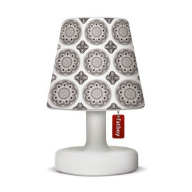Fatboy Edison-le-Petit outdoor lamp with Cooper Cappie Lampshade White Light