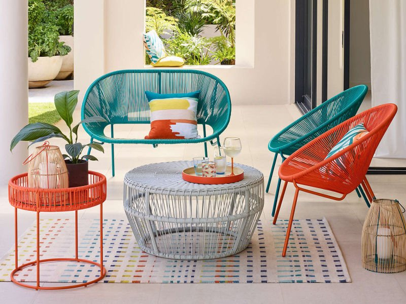 colourful outdoor furniture from John Lewis