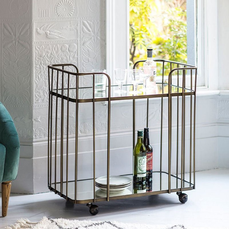 Perch & Parrow Mimosa Bronze Drinks Trolley