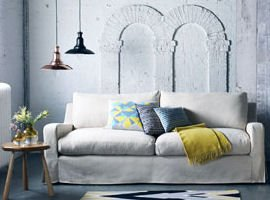 Room set by Heals contemporary furniture shop