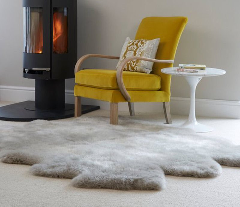 Large eco sheepskin rug from Etsy homewares shop Swedishdalahorse