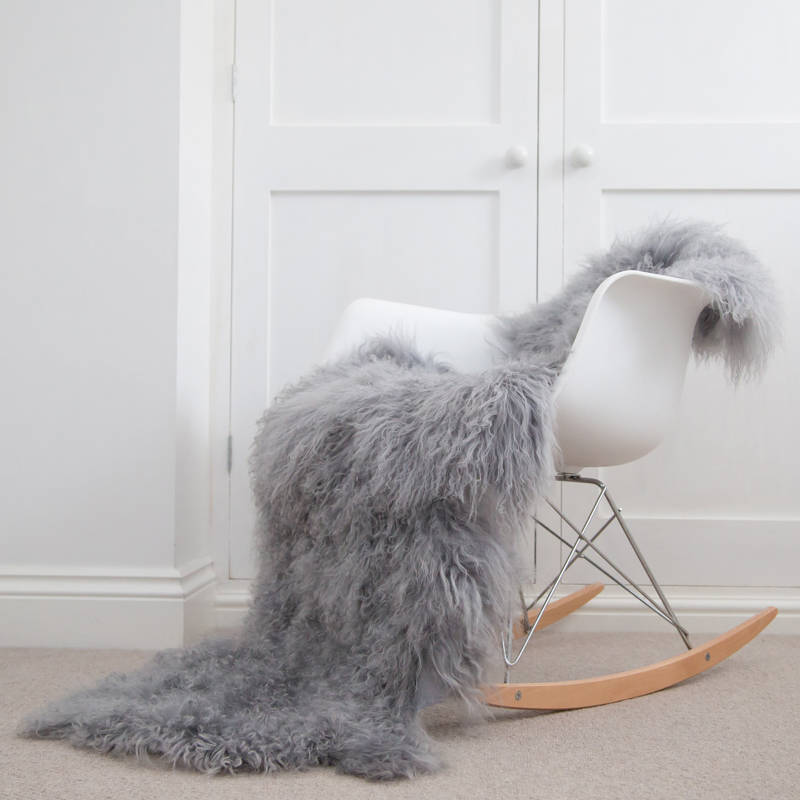 Large eco sheepskin rug/throw from Etsy homewares shop Swedishdalahorse