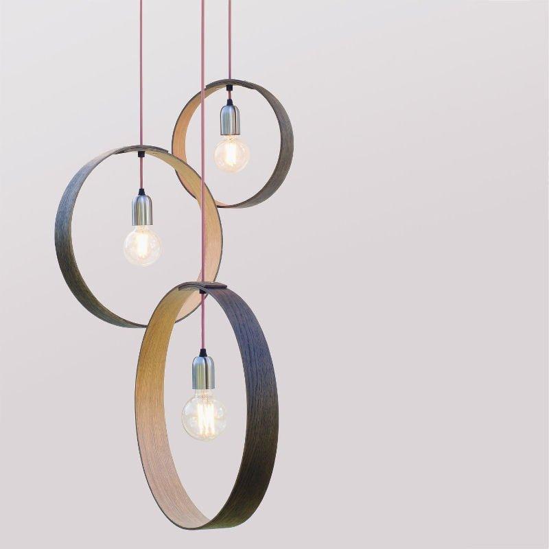 Etsy shop LayerTree steam-bent oak contemporray pendant light
