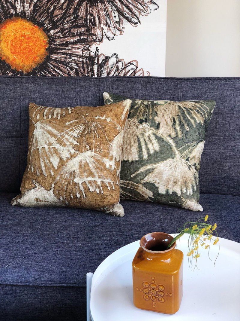 Contemporary cushions from Blue Lizard Textiles at Etsy