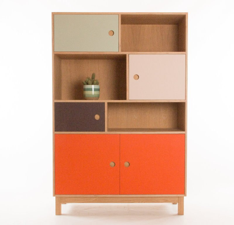Large colouful contemporary storage unit by Bee9 Design at Etsy UK