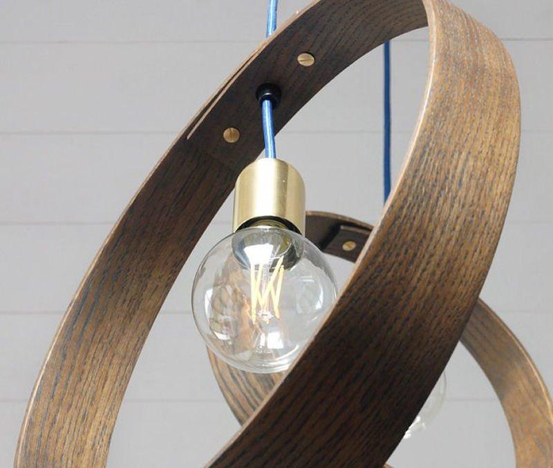 LayerTree steam-bent oak contemporray pendant light from Etsy homewares