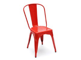 Red Tolix A Chair