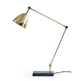 Retro Style Brass and Marble Desk Lamp from Cox and Cox