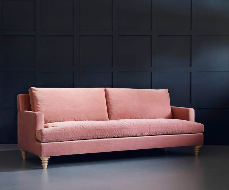 Iris pink velvet sofa for small spaces from Love Your Home