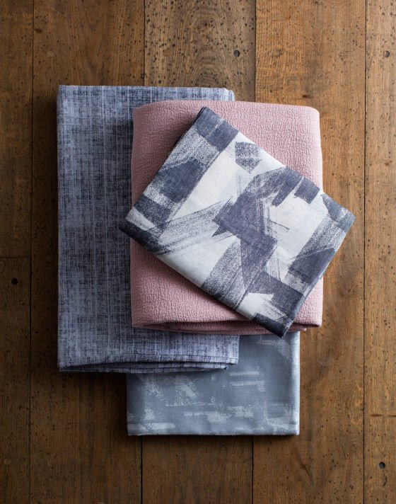 Pink and grey home textiles from the John Lewis Design Project