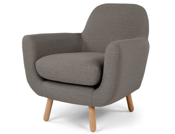 Grey Jonah armchair for small spaces by MADE.com