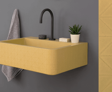 Kast Concrete Basin, Yellow Vos Canvas Collection