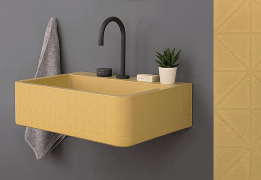 The New Kast Canvas Collection Colourful Concrete Basins